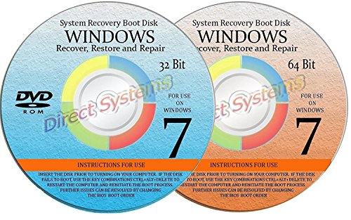 2 BOOT DISKS for RESTORE & RECOVERY for WINDOWS EIGHT 32 ...