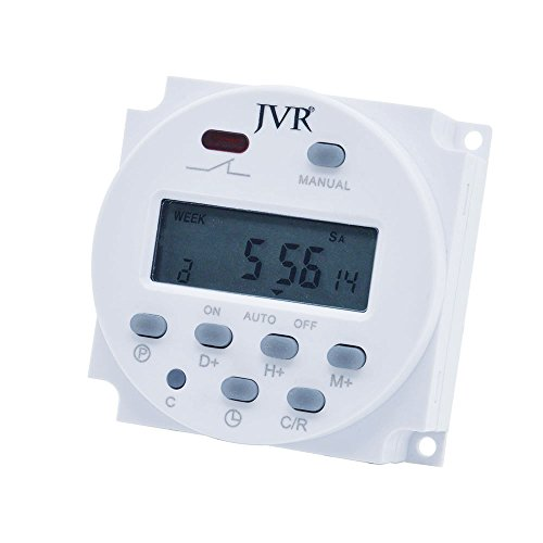 Timer Switch for Solar Lights Chicken Feeders, Programmable
