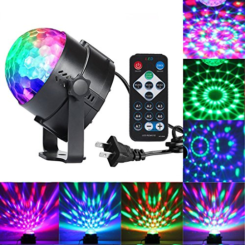 Sound Activated Party Lights With Remote Control Dj Lighting, RBG Disco  Ball, Strobe Lamp 7 Modes Stage Par Light For Home Room Dance Parties  Birthday DJ ...