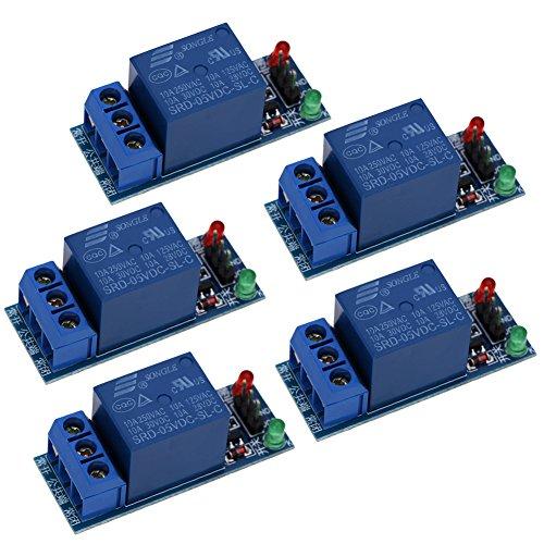 UEB 5Pcs 1-Channel 5V Relay Module Shield for Arduino 1280 2560 ARM