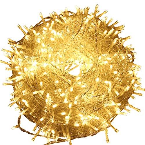 excelvan safe 24v 8 modes 500 leds 100m328ft christmas lights fairy lights dc transformer with transparent string for indoor outdoor party wedding