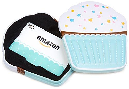 Amazon 50 Gift Card In A Birthday Cupcake Tin Design