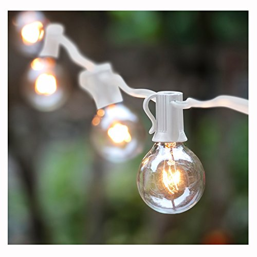 Bulb String Lights Indoor : 50Ft G40 Globe String Lights with Bulbs-UL Listd for Indoor/Outdoor Commercial Decor ...