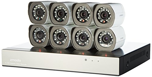 Zmodo Smart PoE Security System — 8 Channel NVR & 8 x 720p ... on
