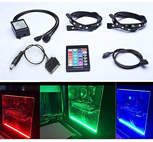 Tingkam Full Kit RGB 5050 SMD 2pcs 18leds 30cm LED Strip