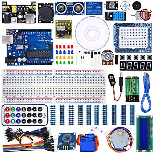 WeiKedz UNO Project Super Starter Kit with Lessons CD, Relay, UNO R3