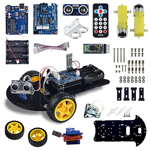 UCTRONICS Bluetooth Robot Car Kit for Arduino with UNO R3, HC-SR04