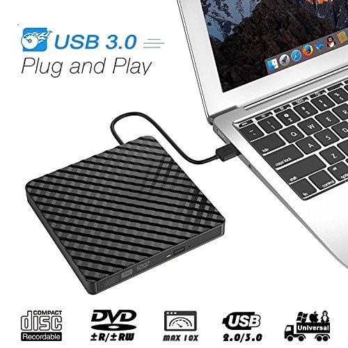 Ploveyy External DVD Drive CD Drive, USB 3 0 CD Player for