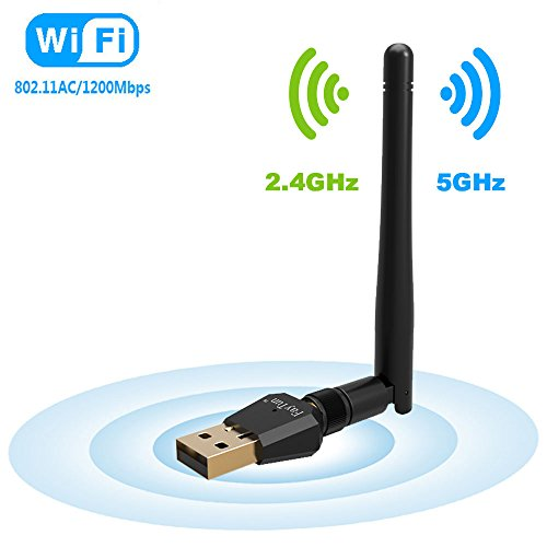 Wifi USB Adapter 5dBi Antenna, AMBOLOVE AC600Mbps Dual Band