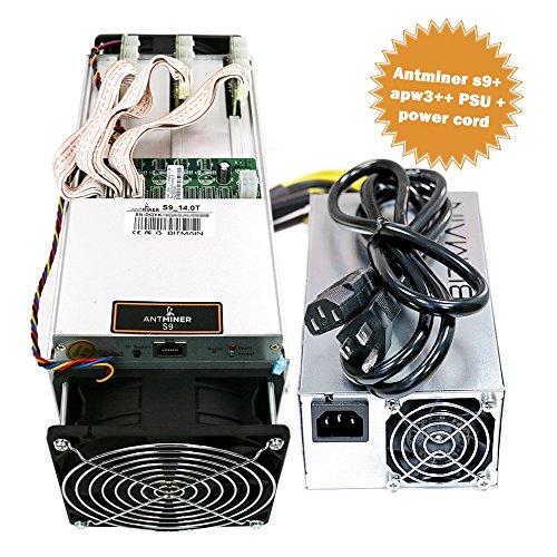 Bitmain Antminer S9 Bitcoin Miner, 0 098 J/GH Power