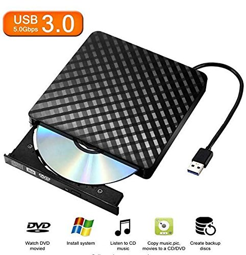Tecnugiz – External CD/DVD Drive Laptop, Mac, Chromebooks USB 3 0