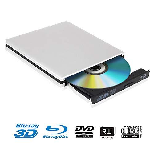 silver external 4k 3d blu ray dvd drive portable usb 3 0 blu ray dvd burner player writer
