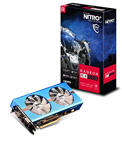 Sapphire Radeon Nitro+ Rx 590 8GB GDDR5 Dual HDMI/ DVI-D/ Dual DP OC