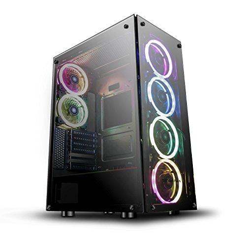 darkFlash Phantom Black ATX Mid-Tower Desktop Computer