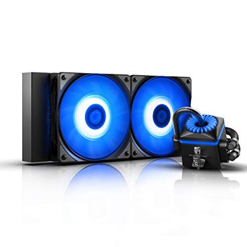 DEEPCOOL Captain 240 RGB V2, AIO Liquid CPU Cooler, Anti-Leak
